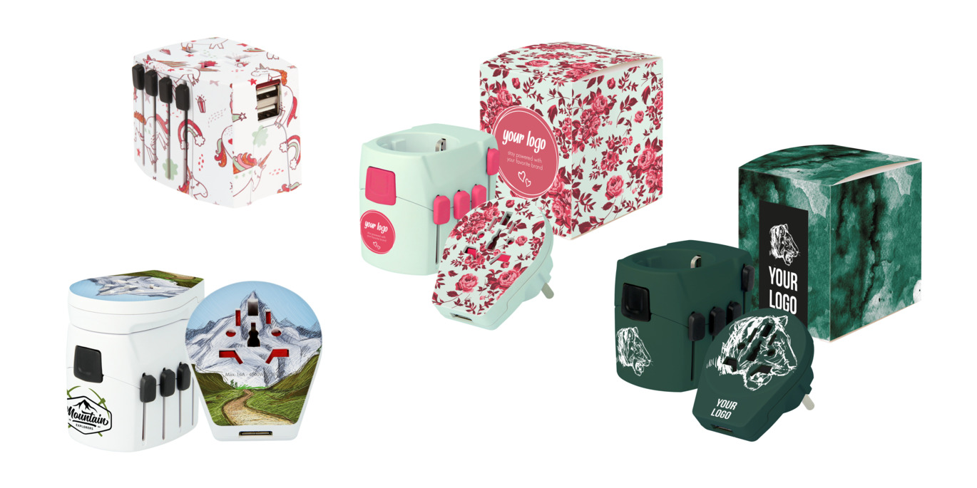 Power Gifts customization of pro - world & usb, flower print & green tiger print