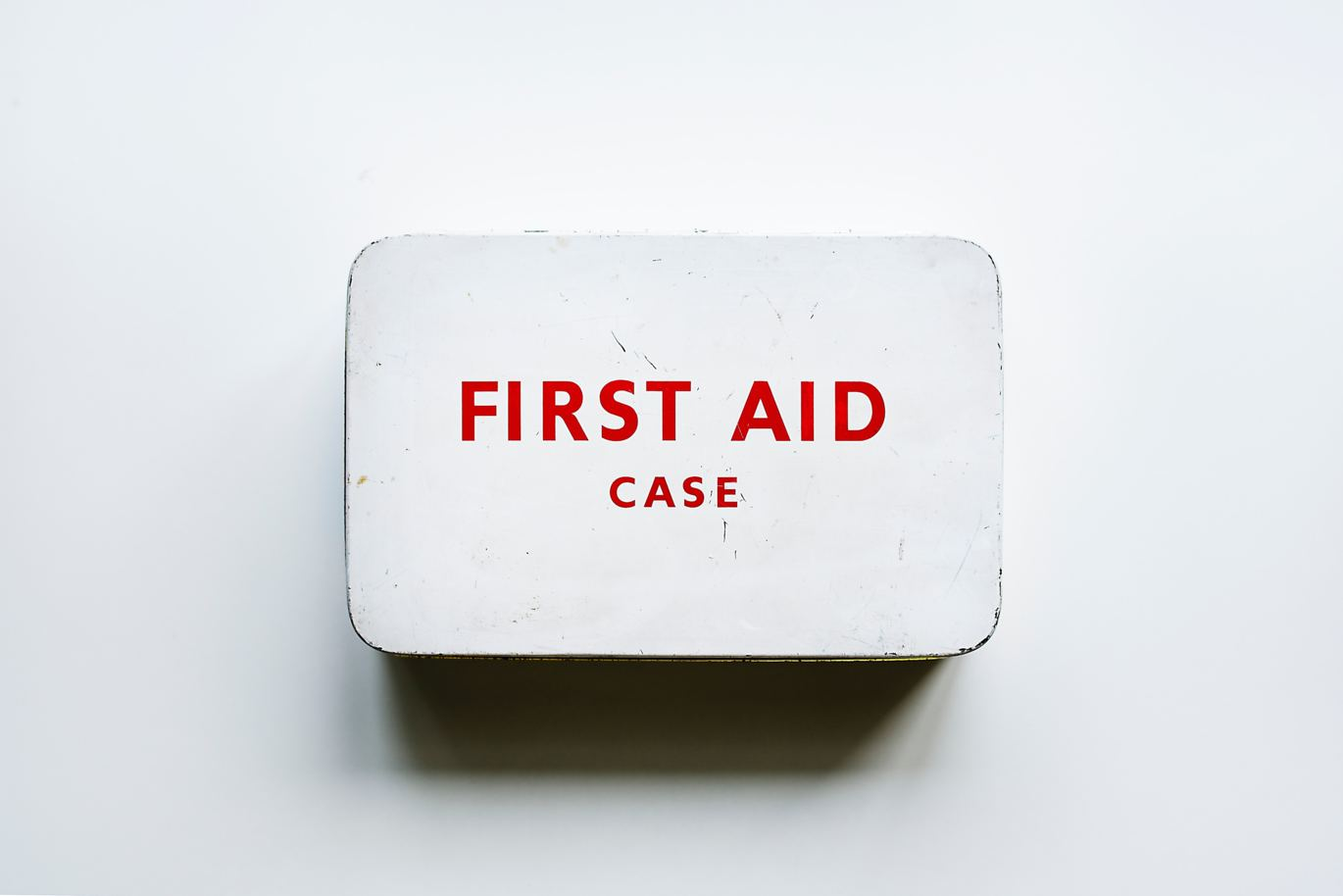 first aid case on a wall
