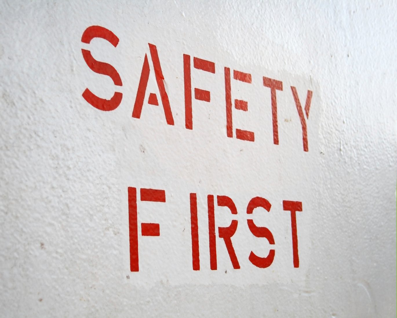 safety first; red typo