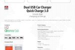 Dual USB Car Charger - Quick Charge_E