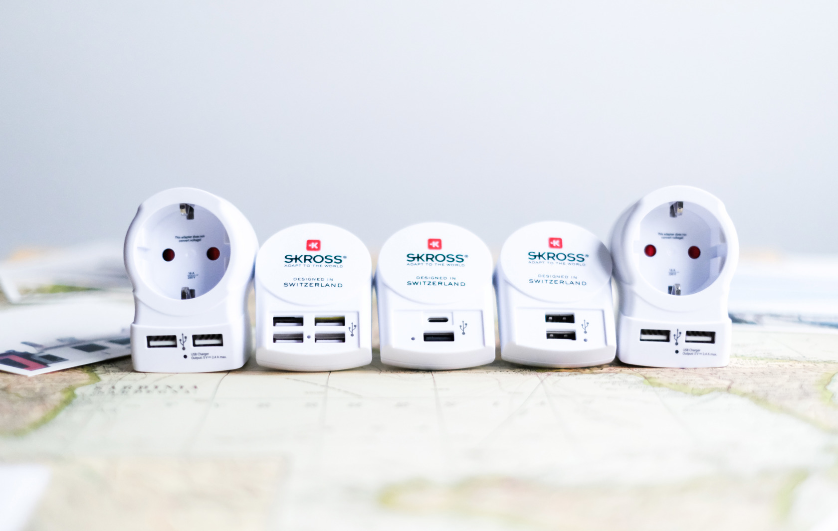 Euro USB Charger (AC), (2xA), (4xA), Europe to UK USB, Europe to USA USB