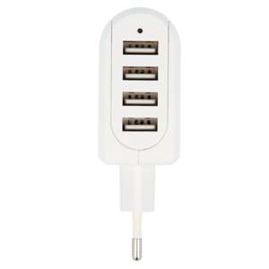 Euro USB Charger - 4-Port