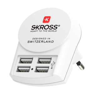 Euro USB Charger (4xA)_Side Front
