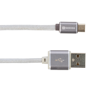 Charge'n Sync Micro USB cable - Steel Line, Silver