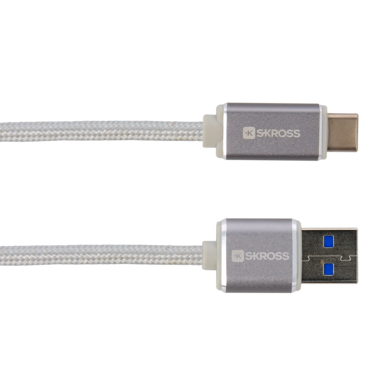 Charge'n Sync USB Type-C cable - Steel Line, Silver